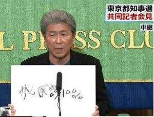 9503 - 関西電力(株) >鳥越俊太郎、こいつは、女性の敵みたいだ  アホやなあ、関西の人間は。東京じゃ「鳥越さん元気じ