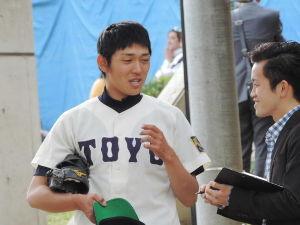 栄光の攻撃野球・東洋大学硬式野球部 東都大学二部リーグ・第一週・東洋大学キャンパス野球場・一回戦  東洋000 001 000  1 H