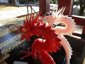☆いろはにこんぺいと☆ はーちゃん^^ レポーターのピコたろんです^^  赤い竜と白い竜♪ たしかに出迎えてくださいましたよ