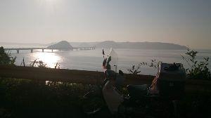 山口よりトコトコ走り隊 四国に友人とのキャンツー計画してましたがお盆の交通事情で断念!>< マッタリと角島近くの無料キャンプ
