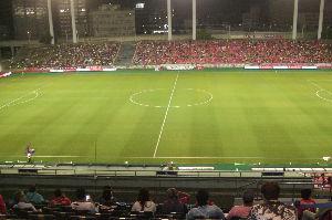 今日のセレッソ 天皇杯2回戦。 吹田スタジアムを、元旦桜色に