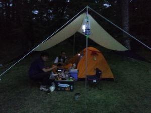 北東北のライダーいませんか?? 昨夜焼け走りキャンプ場でペペさんと1年ぶりの再会。  宴を楽しみました。(^^♪