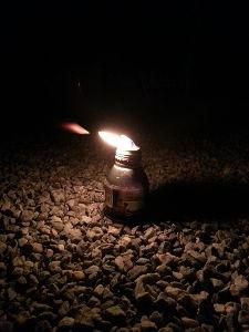 ○o。.ぶくぶく.。o○ 灯火試験 風にも負けない、しっかりした炎~ いい感じ~ やっぱりホヤがほしいね~