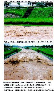 松本地方の年最大降雨量分布(長野地方気象台松本測候所測定値による。) ダム計画の目標値である基本高水流量に疑問を抱き、調査を行って見ると、我々国民を巧妙にだまし、計画規模