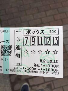 2015年12月27日(日)第60回有馬記念 (GI) 今回基本11、12で考えて買いました。 三連単は見事に外したけど三連複は100円だけ取れたのでなんと