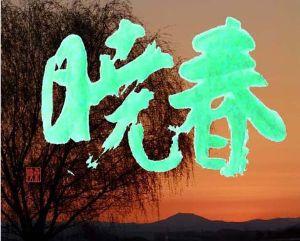 書道作品掲示板 「春 暁」