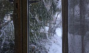 59才になりました♪ おはよう カーテンを開けたら… 雪景色になっていた ^ ^