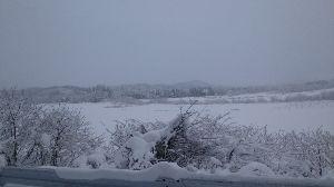 今日の道 明日への扉 寒いですねー 冬ですねー  雪が降りました。   ★不二子★