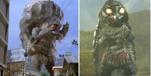 ■特撮界 悪のヒーロー■  野武のぶ太さん推薦のグロン。  左が「ウルトラマンタロウ」のグロン、右が「仮面の忍者赤影」のグロン