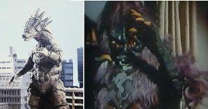 ■特撮界 悪のヒーロー■ ウルトラとライダー両方というとこれがありますな。  サラマンドラ。左はウルトラマン80、右は仮面ライ