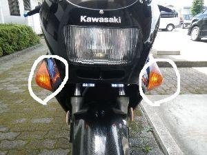 千葉県発!バイク遊びしませんか? ウインカーポジションランプをつけてみました。 もちろん保安基準適合させた取付方法になります。