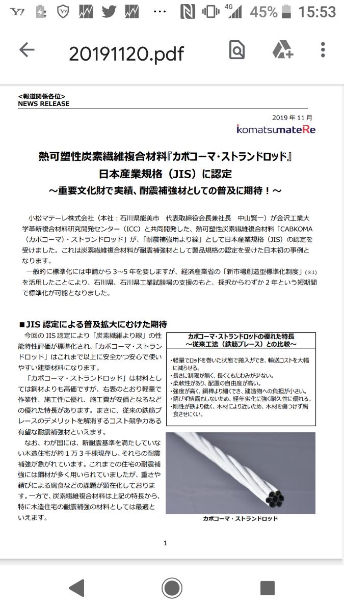 3580 - 小松マテーレ(株) 間違って消してしまった。