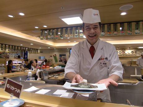 7647 - (株)音通 しゃどう様、貴殿にもいつの日か小増寿司の握り食べていただきたい。 飛び切りの握りを握りやす。