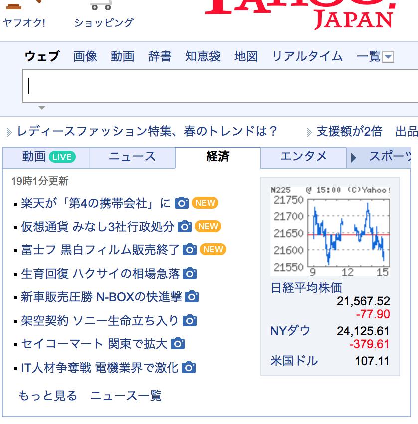 4755 - 楽天(株) よっしゃ〜 Yahooニュース 経済トップに入ったよ! さすが読売、公正なコメントでまとめてる。