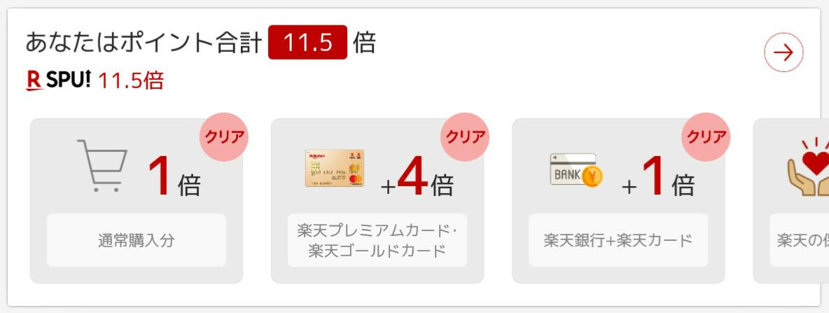 4755 - 楽天(株) 今日は 5のつく日で楽天カードが+2倍 エントリーで全店舗+1倍 楽天ブックスがエントリーで+3倍