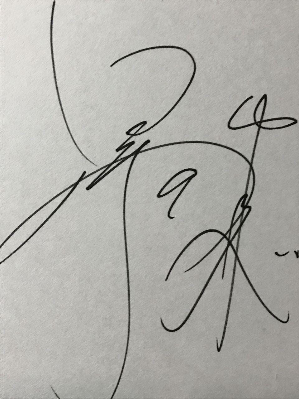 新【観戦記】★住所は東京ドーム★ これは野本圭  別名  三振k   自筆だよ  寮でもらった