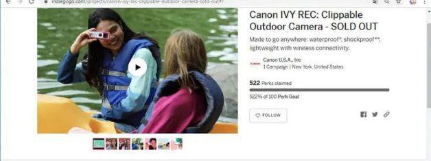 7751 - キヤノン(株) 9/19の再掲 ーーーー CANON IVY RECはハイビジョン動画の撮影が可能な、1300万画素