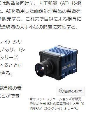 7751 - キヤノン(株) AI搭載産業用カメラ