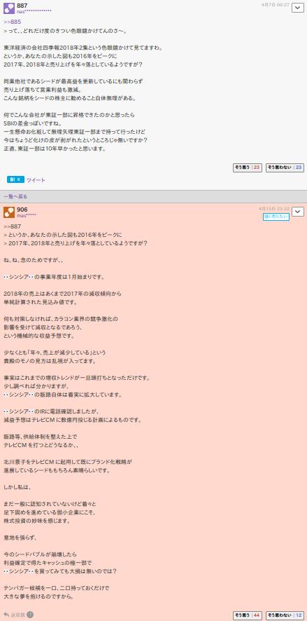 7782 - (株)シンシア > 東証一部上場詐欺、確定ですね。  その東証一部上場詐欺会社の株を 散々他所の掲示板で買い煽