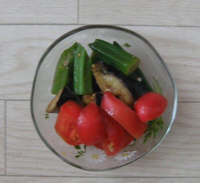 Oniyome Stock Exchange ええこと聞いた。 お礼に今夜作った夏野菜のお浸しどぞ~