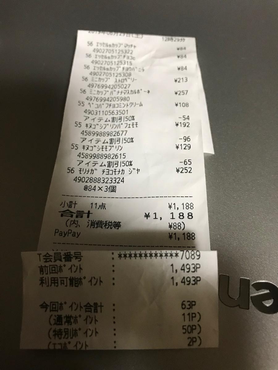 3197 - (株)すかいらーくホールディングス ペイペイ2割還元じゃからアイスなどを買いだめしたぞい。  今日は外出して実質1000円も使ってしもう