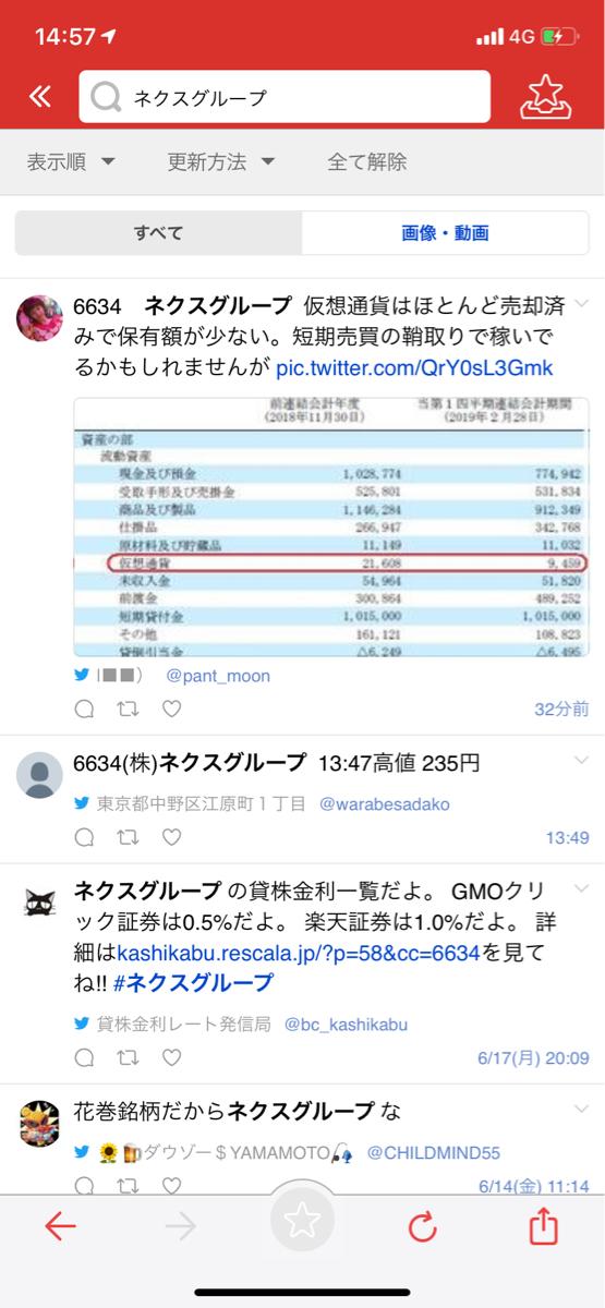 6634 - (株)ネクスグループ 売り煽ったな 仮想通貨保有額 2017年11月に15899千円 2018年2月には790065千円