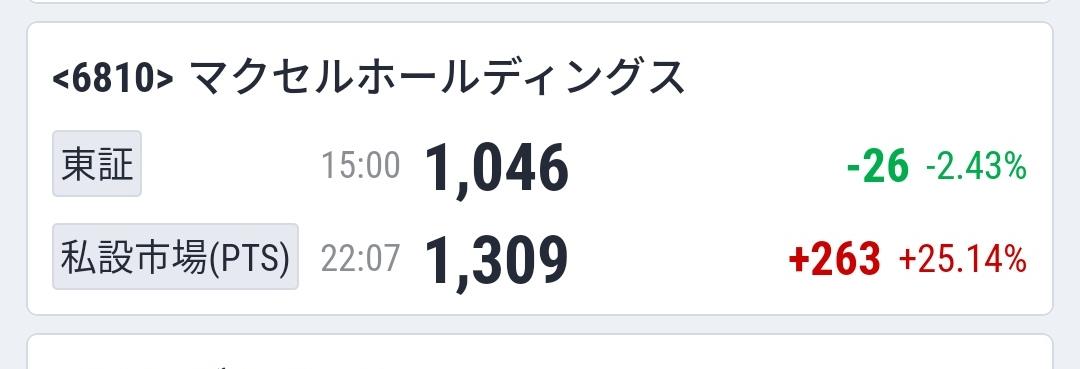 6810 - マクセルホールディングス(株) ん?