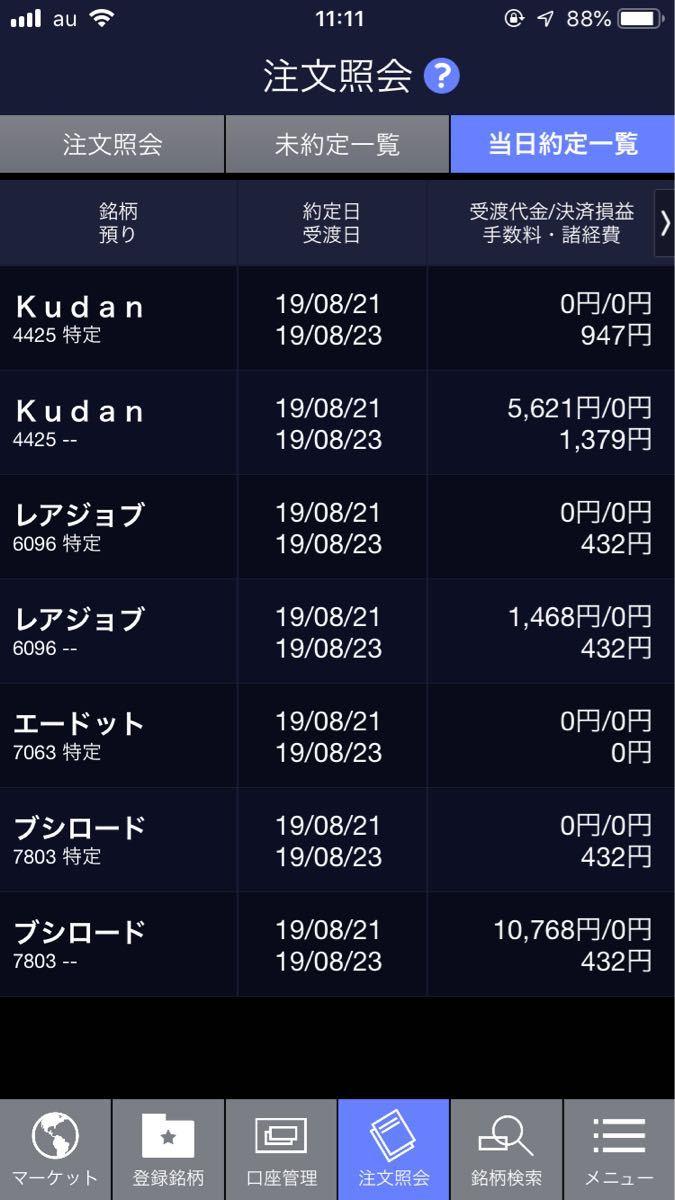 ☆★くまの学校★☆ ブシロード 2635→2747  10768円  エードット 2410買い継続 指値取り消