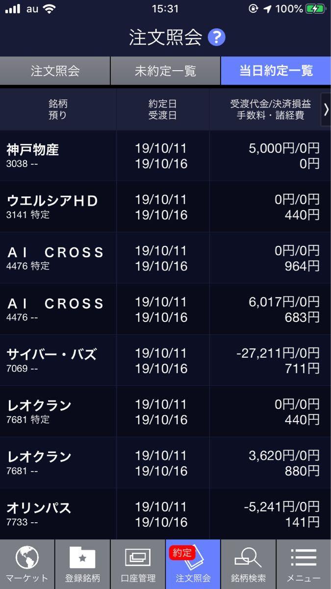 ☆★くまの学校★☆ 本日のトレード損益  -17,815円  サイバーバス(持)4185→3925   ※指数
