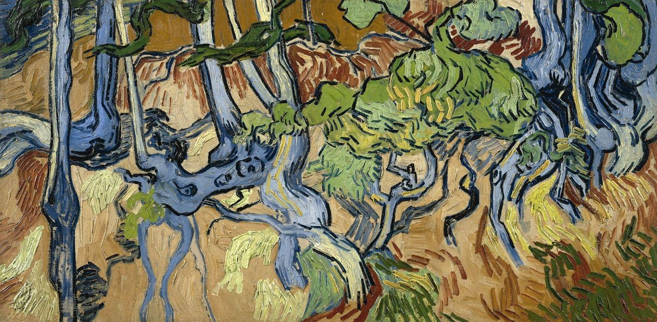 投資全般 ゴッホは、1890年の7月29日に「木の根と幹」