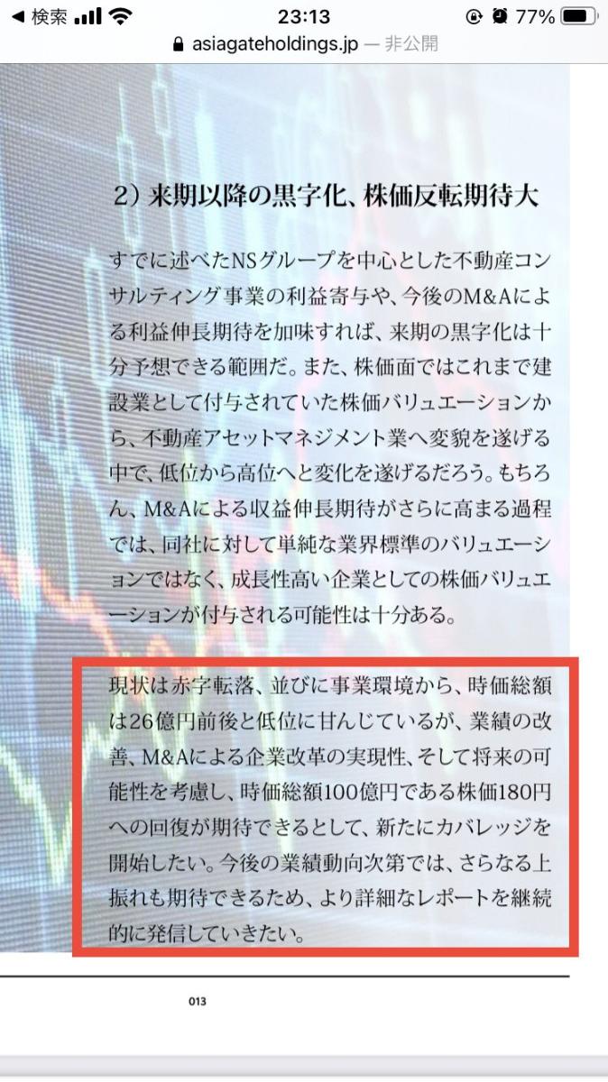 1783 - (株)アジアゲートホールディングス 3桁は期待したい!!!