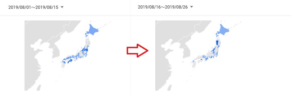 3810 - サイバーステップ(株) これまでのTVCMは日本全国で放送といっても、東北や南九州では流していませんでした。(今までこれらの