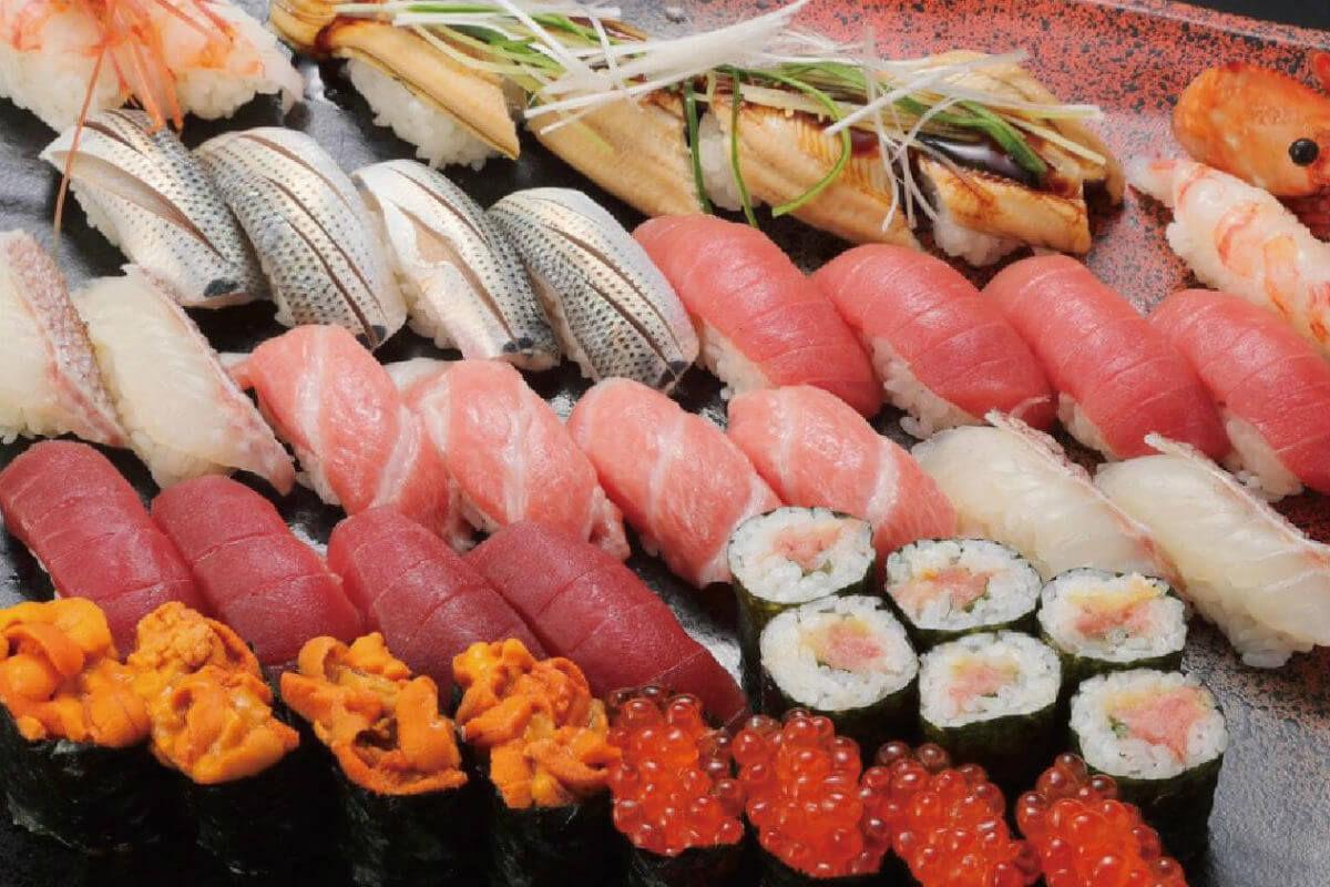 6628 - オンキヨー(株) オンキョーには素敵なオーディオがあります。 小増寿司にも素晴らしい握りがあります。 本日も小増寿司、