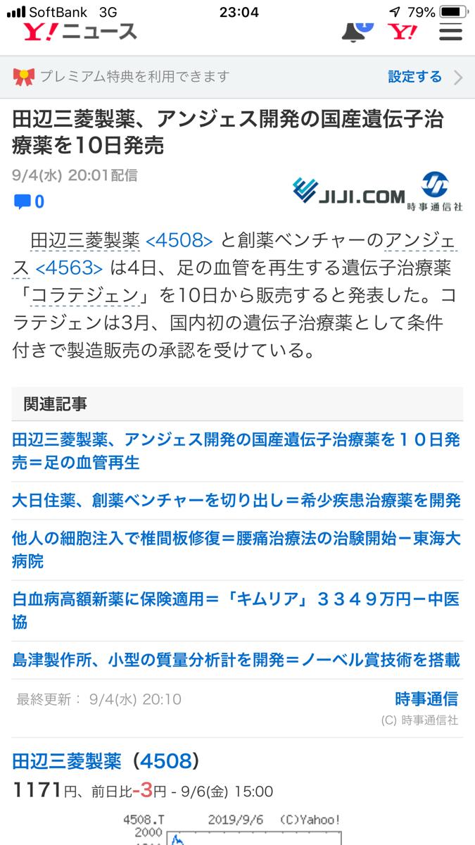 4563 - アンジェス(株) これって?