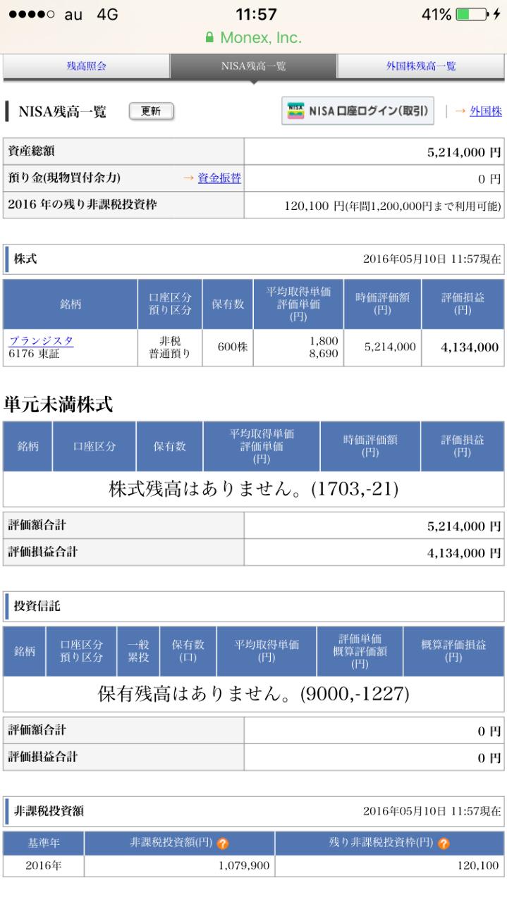 6176 - (株)ブランジスタ NISA枠もありますよ!(*^^*)