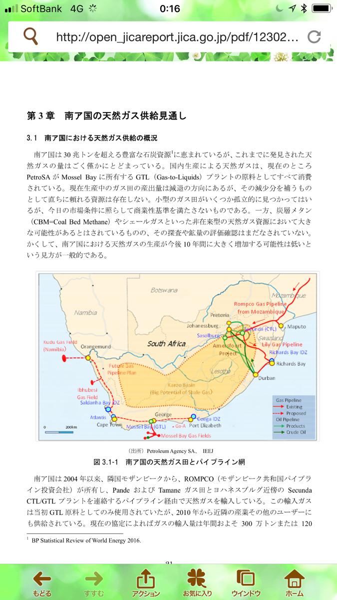 zarjpy - 南アフリカ ランド / 日本 円 南アのシェールガス含め、新規天然ガス開発は、とりあえず10年はかかる様な残念感満載資料見つけるー(&