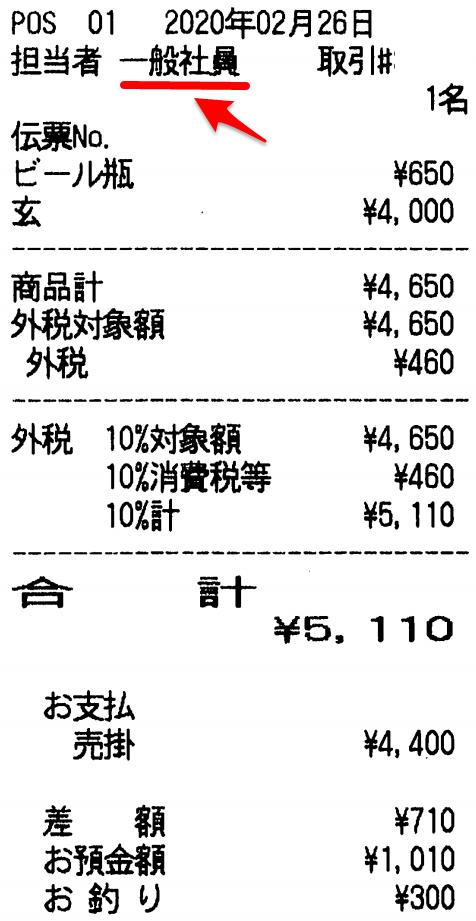 3372 - (株)関門海 いつもと違う「玄品」の店で「玄コース」を優待使用。 気になったのは、 レシートの 【 担当者 一般社