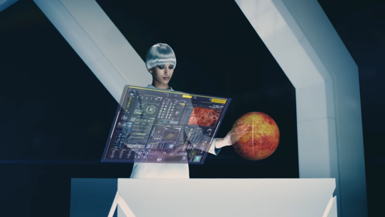 2438 - (株)アスカネット 次世代は両手で操作が出来ますね。 ゲームもコントローラーが要らなくなれば変わるでしょうね。