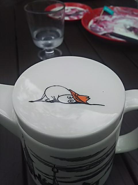 8789 - フィンテック グローバル(株) みたいです。 コーヒーポットの蓋が可愛いでしょ。
