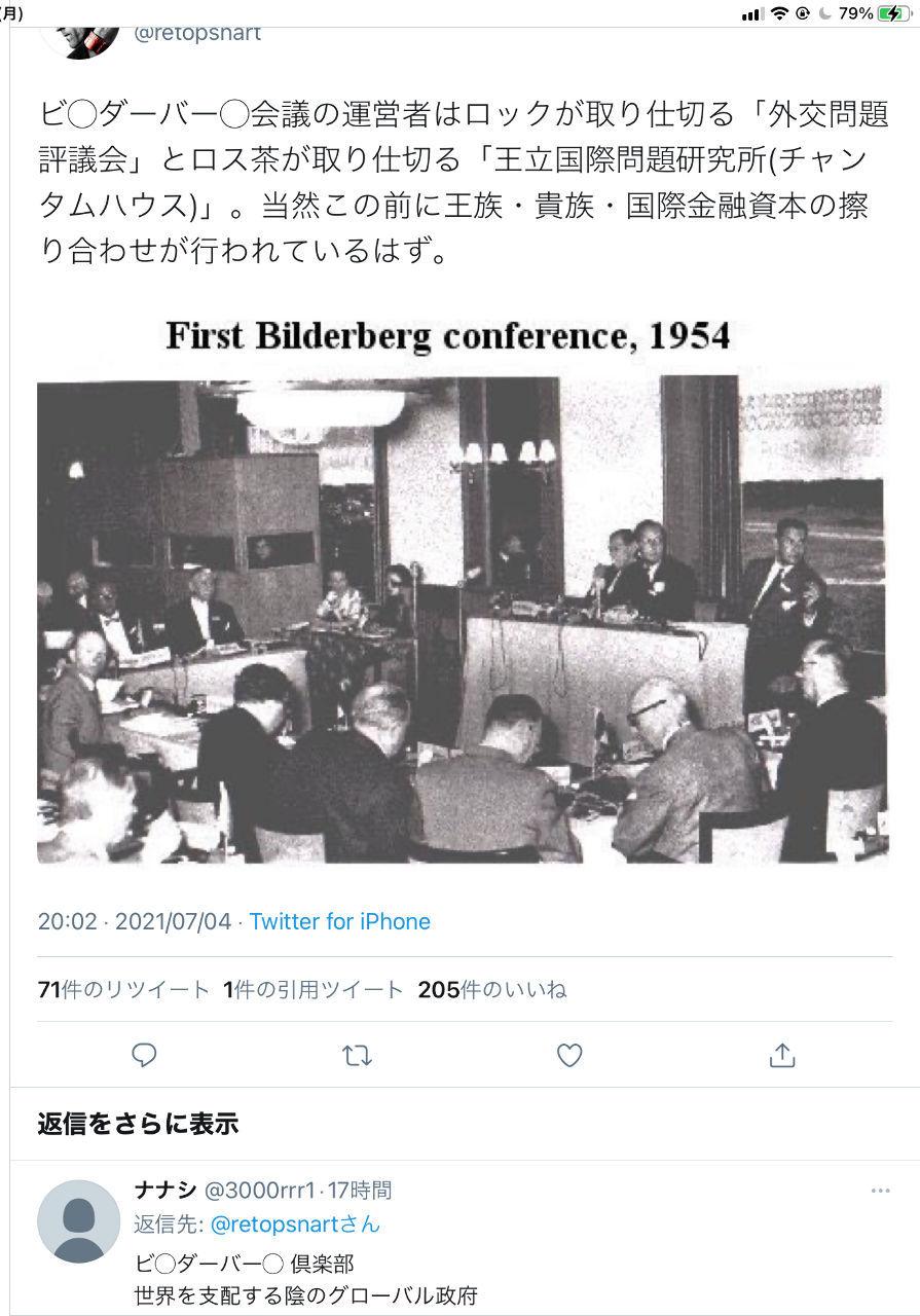 くるみぱん2 闇   ビ◯ダーバー◯会議の運営者はロックが取り仕切る「外交問題評議会」とロス茶が取り仕切る「王立国