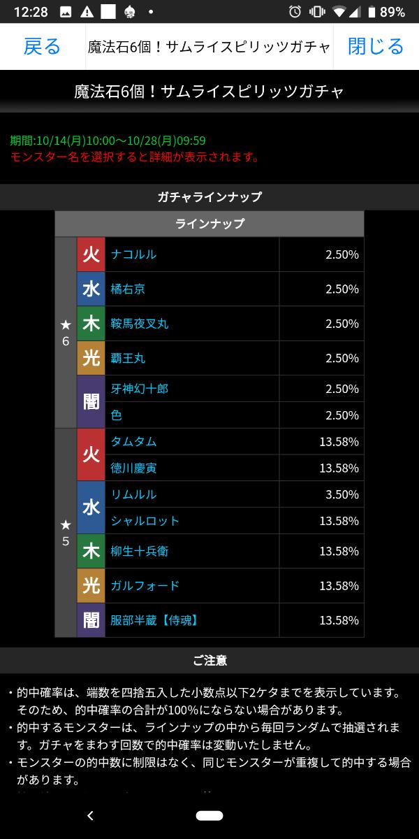 3765 - ガンホー・オンライン・エンターテイメント(株) 三年与太郎殿 当たりです! ☆6 出現率2.5%