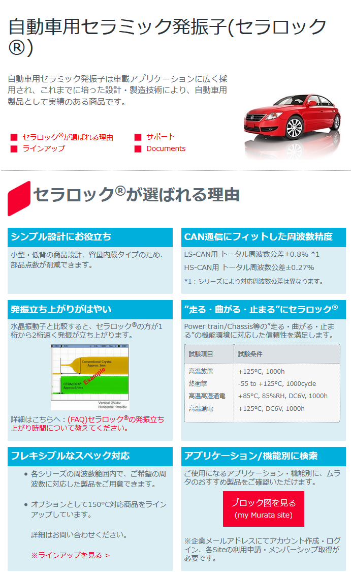 6779 - 日本電波工業(株) >現在販売されている自動車には、すでに100%クリスタル(水晶ディバイス)が使われています。  村田