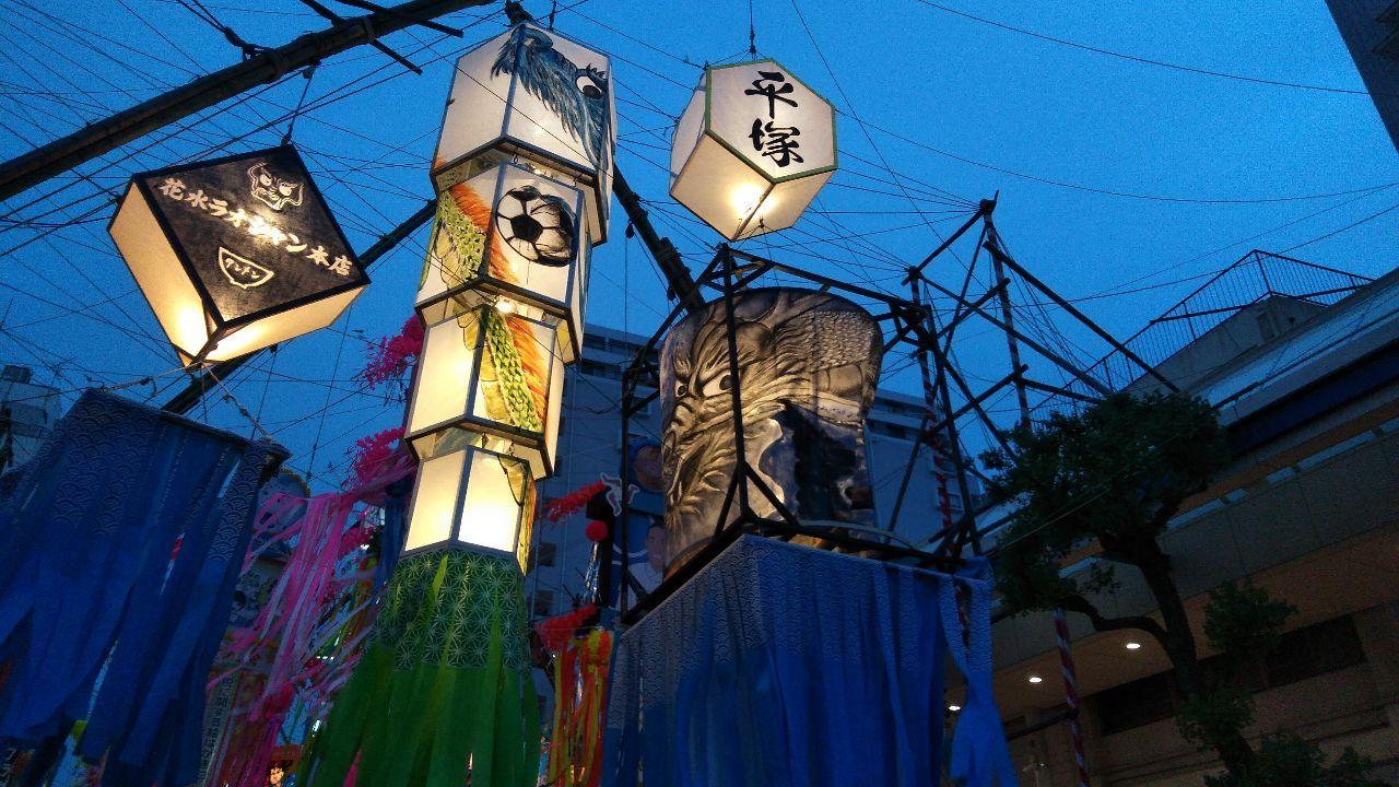 3092 - (株)ZOZO みんなー、七夕は何をお祈りしたのかな??  平塚の七夕祭りは、天まで上っていきそうな、 カッコいい龍