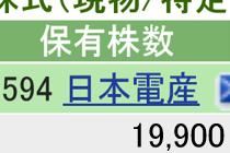 6594 - 日本電産(株) 本日 +300 楽天 700 SBI 19900 計  20600