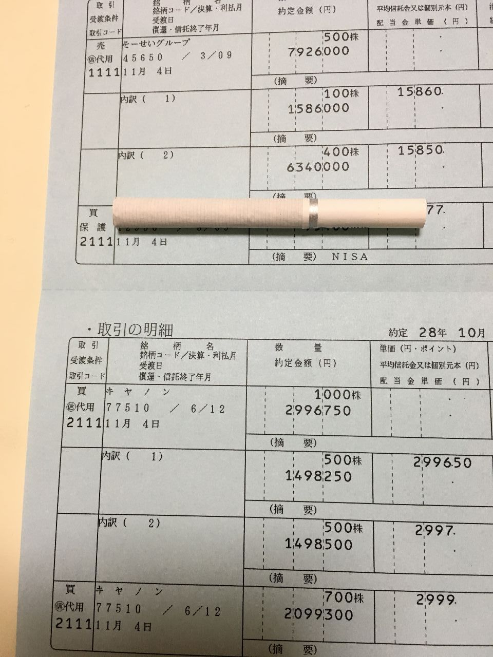 4565 - そーせいグループ(株) 年金爺様なお寿司大好き@安保dす  ところで クズのお前が去年2016年10月31日に買った 429