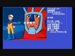 ★★★アニメ関連山手線ゲーム☆☆☆ 14.アストロガンガー&追記  あのナック製作のロボットアニメ OPを担当してます。  ※追記 ミッ