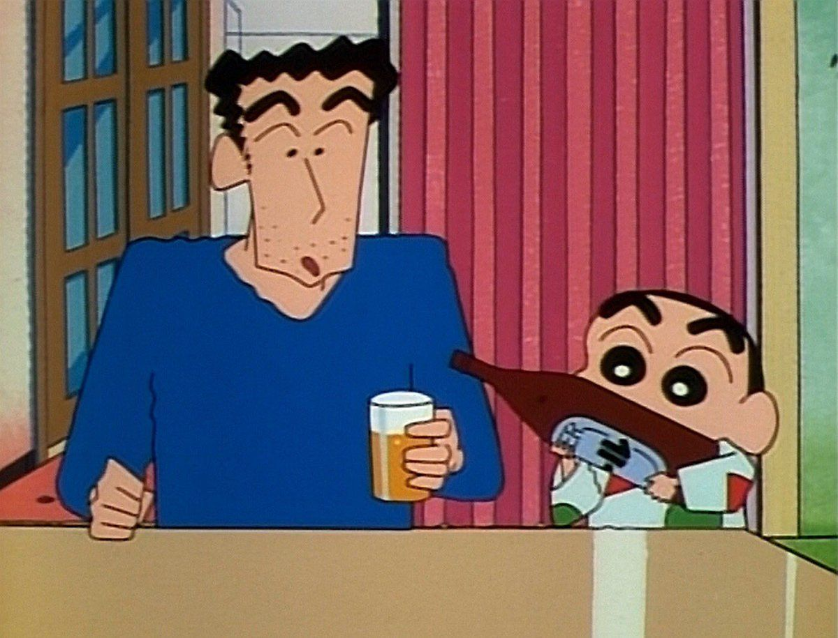 ★★★アニメ関連山手線ゲーム☆☆☆ 12.クレヨンしんちゃん  ぞくに人気ファミリーアニメでは晩酌シーン少ない気がするけど なくはないで
