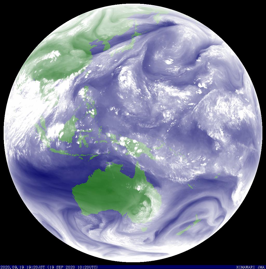 証券会社の注目記事はどうか 静止気象衛星  全球 水蒸気  気象庁
