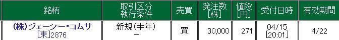 2876 - (株)ジェーシー・コムサ 主力部隊
