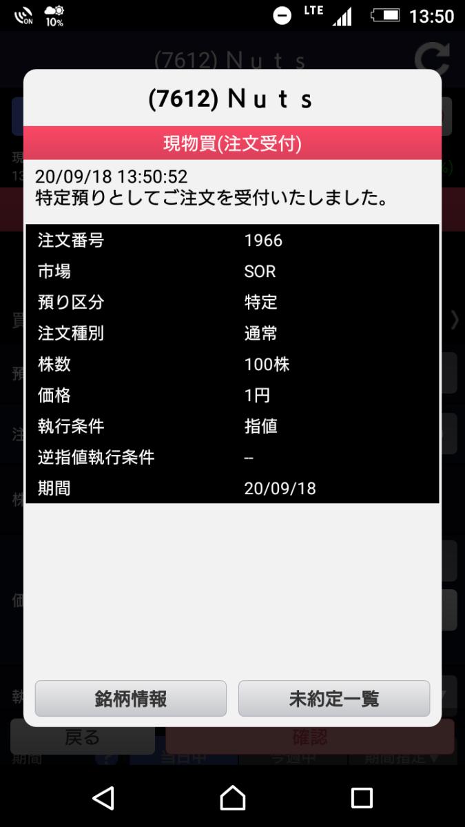 9973 - (株)小僧寿し よっしゃ 1円100注文したわ これで大儲けや!
